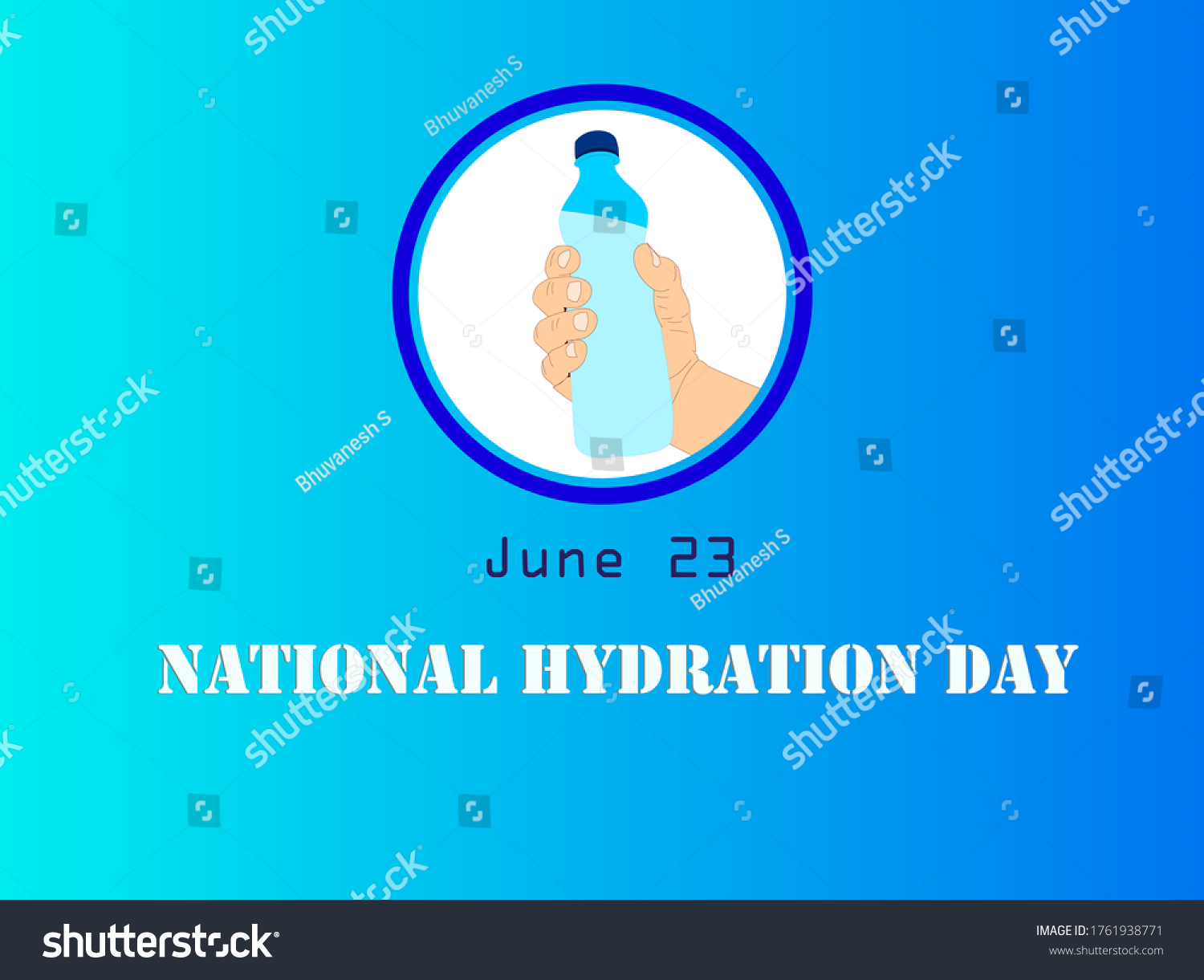 Poster Design Concept Hand Holding Water Stock Vector Royalty Free 1761938771