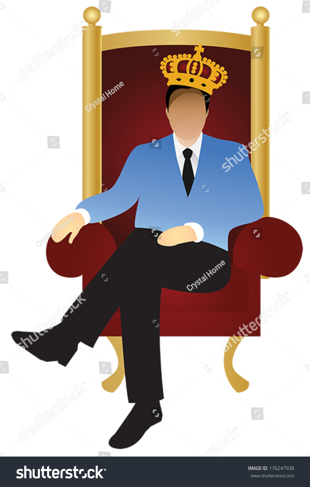 King Sitting In Throne Clip Art Cliparts