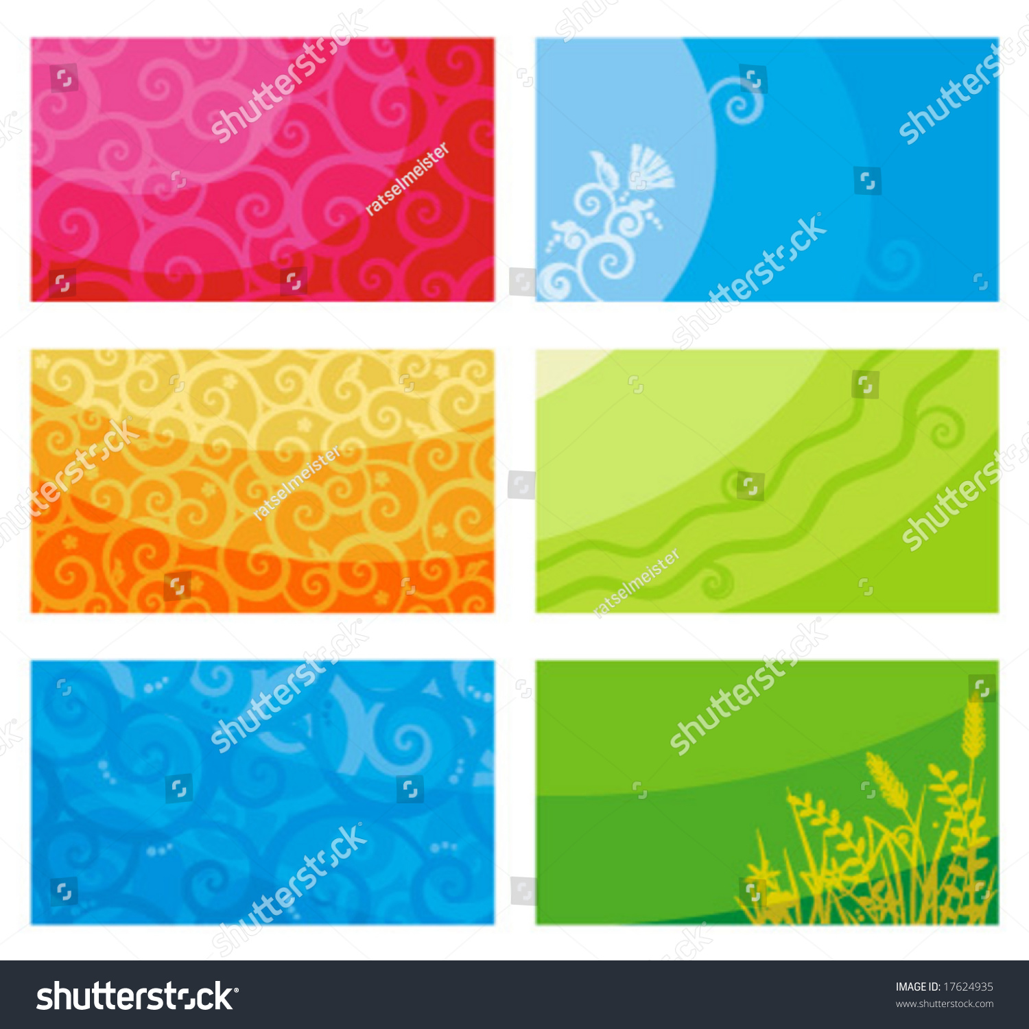 Business Cards Templates Banners Backgrounds Scrolls Stock Vector ...