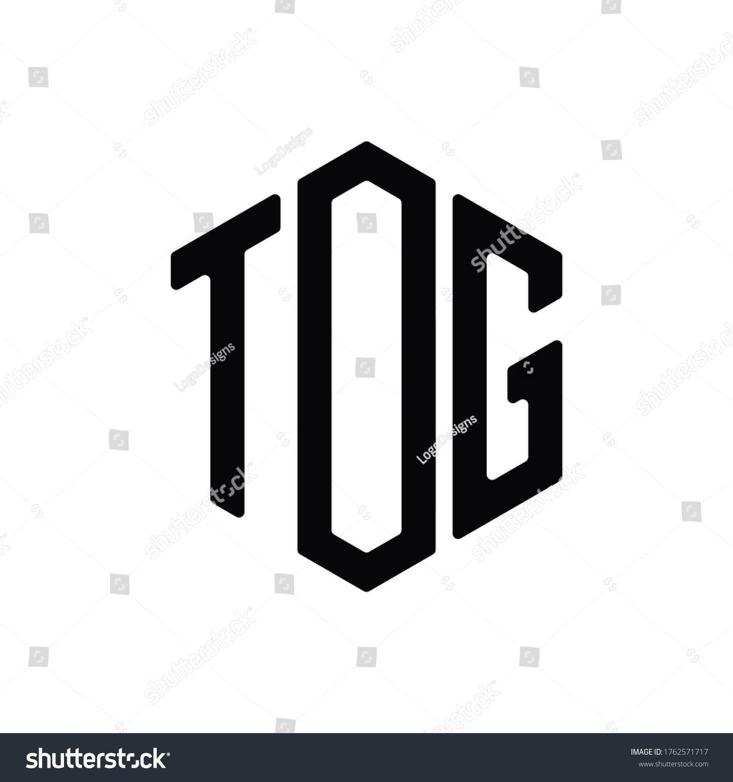 tog letter logo design polygon rounded stock vector (royalty free)  1762571717  shutterstock