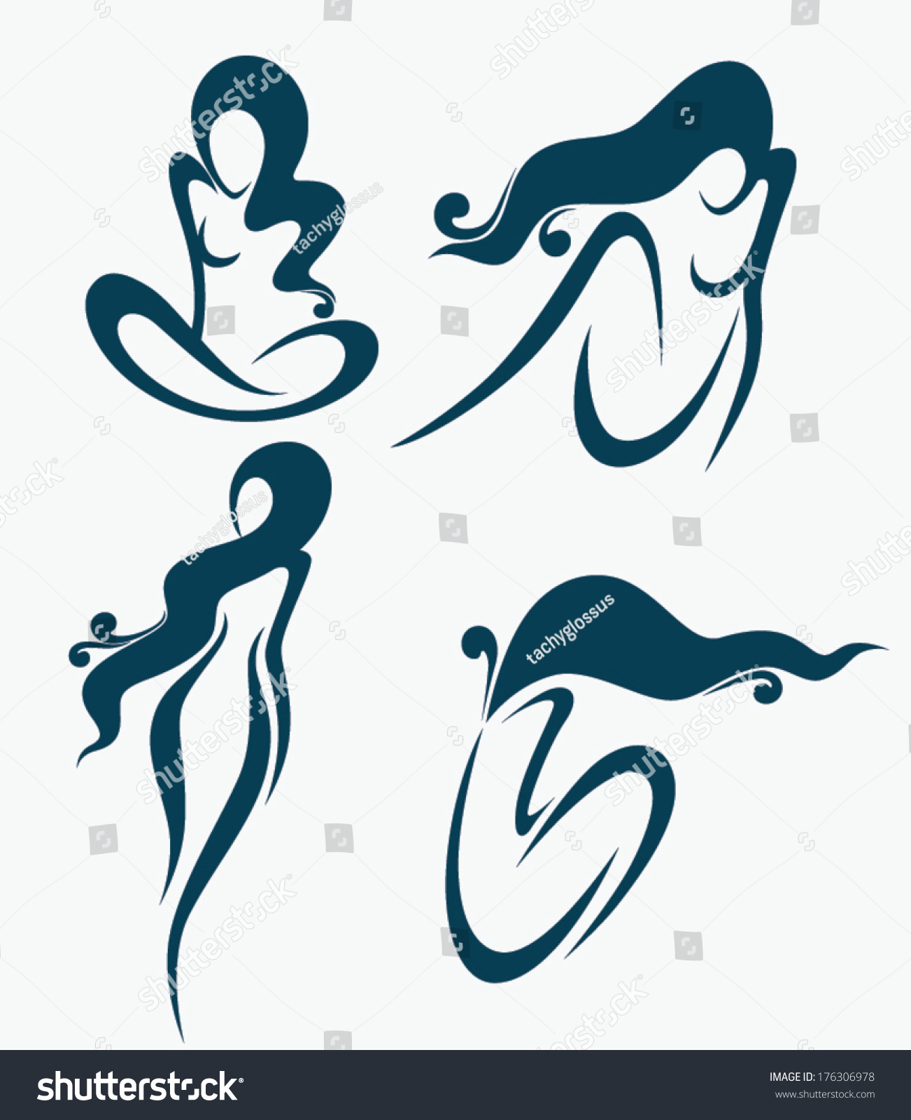 Vector Collection Images Symbols Beauty Salon Stock Vector Royalty