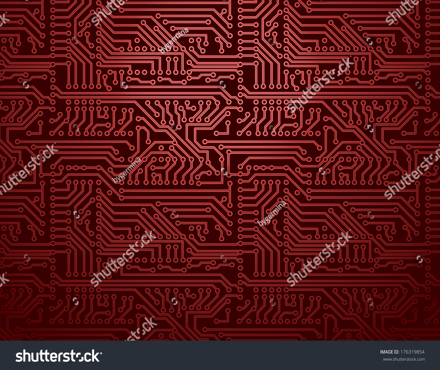 Red Circuit Board Background 16814 Loadtve
