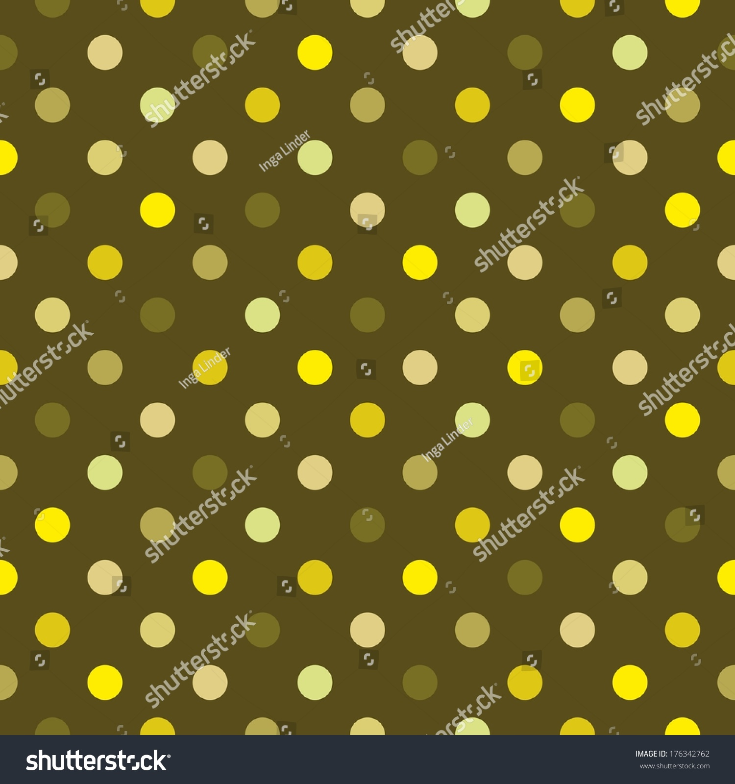 Dark Green Polka Dot Background