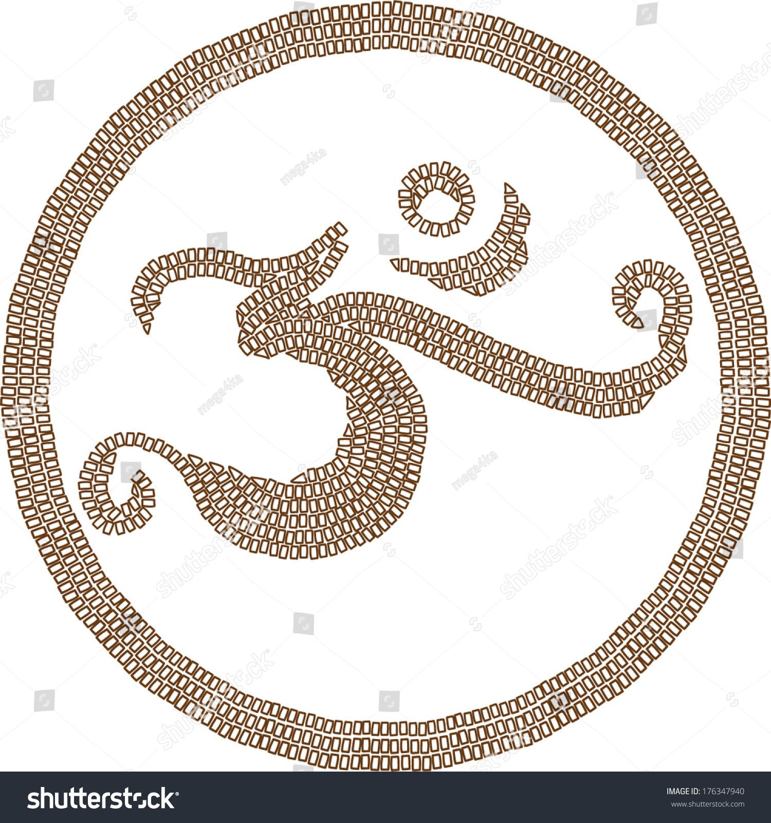 Hinduism religion symbol om created mosaic stock vector 176347940 hinduism religion symbol om created in mosaic style on white background buycottarizona Image collections