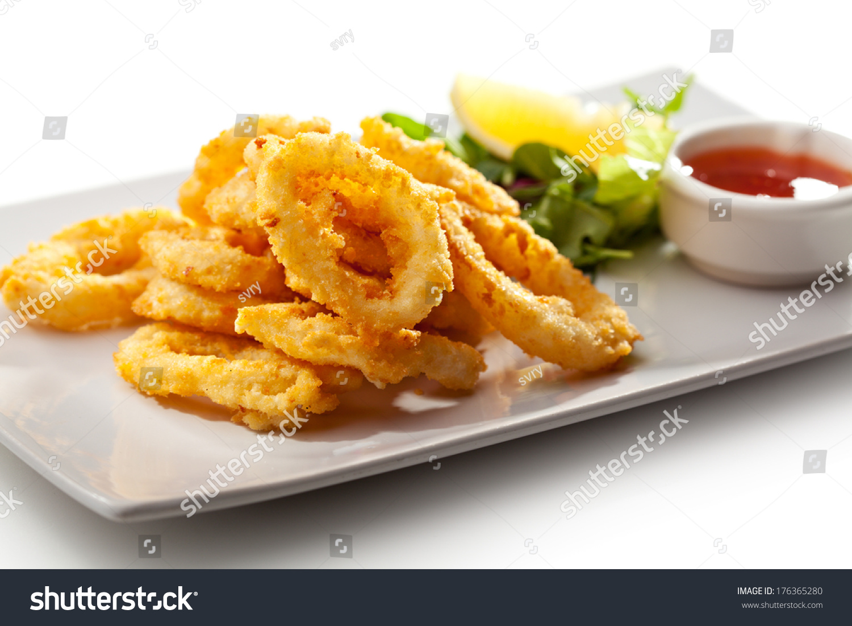 Deep Fried Calamari Rings Stock Photo 176365280 : Shutterstock
