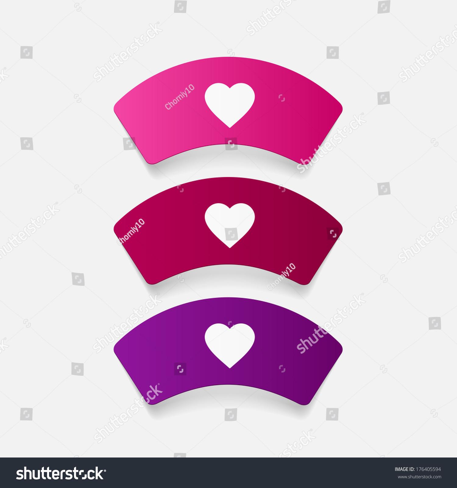 paper sticker nurse cap isolated illustration stock vector