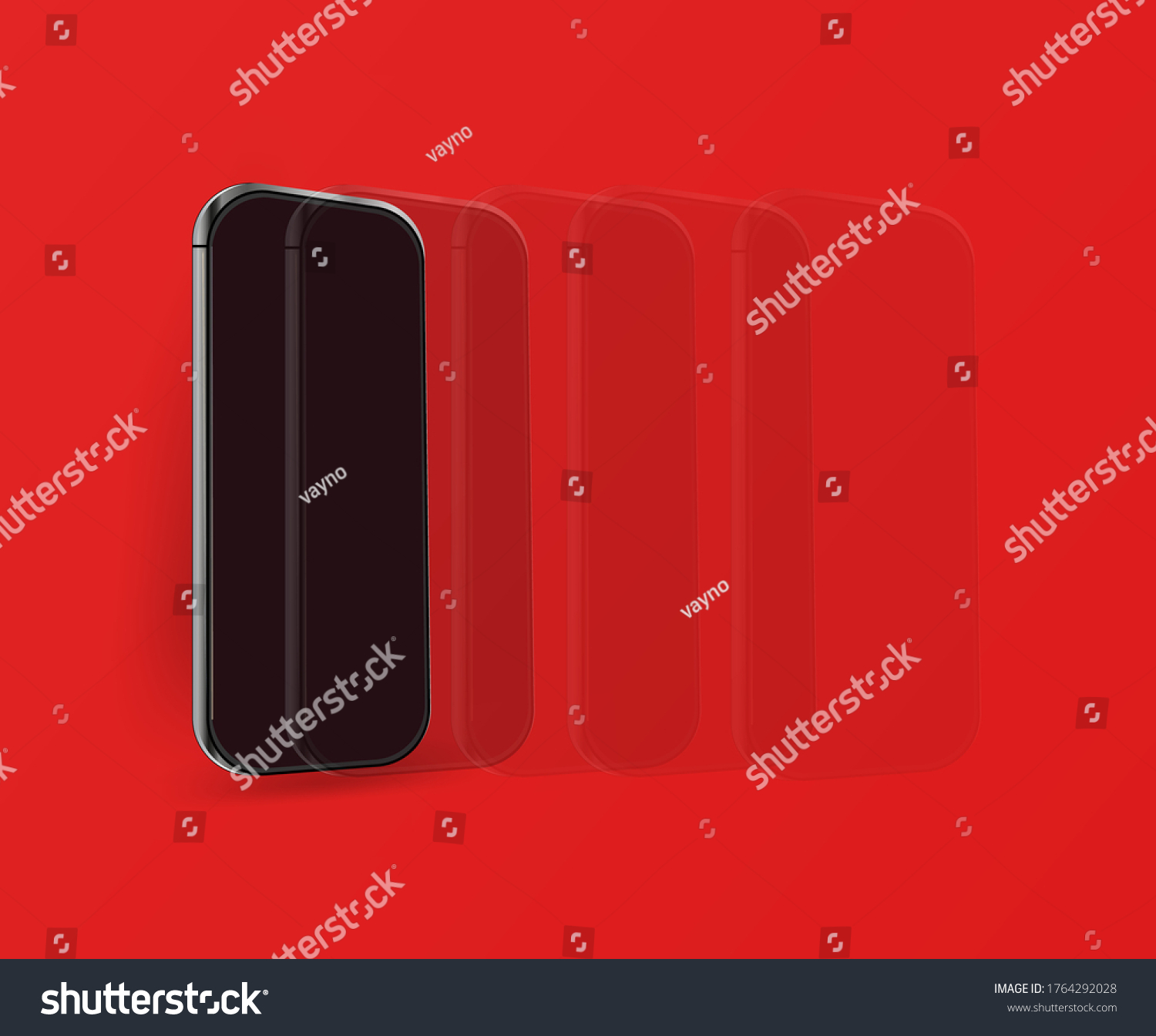 smart phone and mobile phone. isolated mobile phone vector against red background. Modern design
