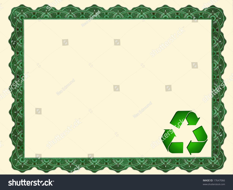 blank certificate