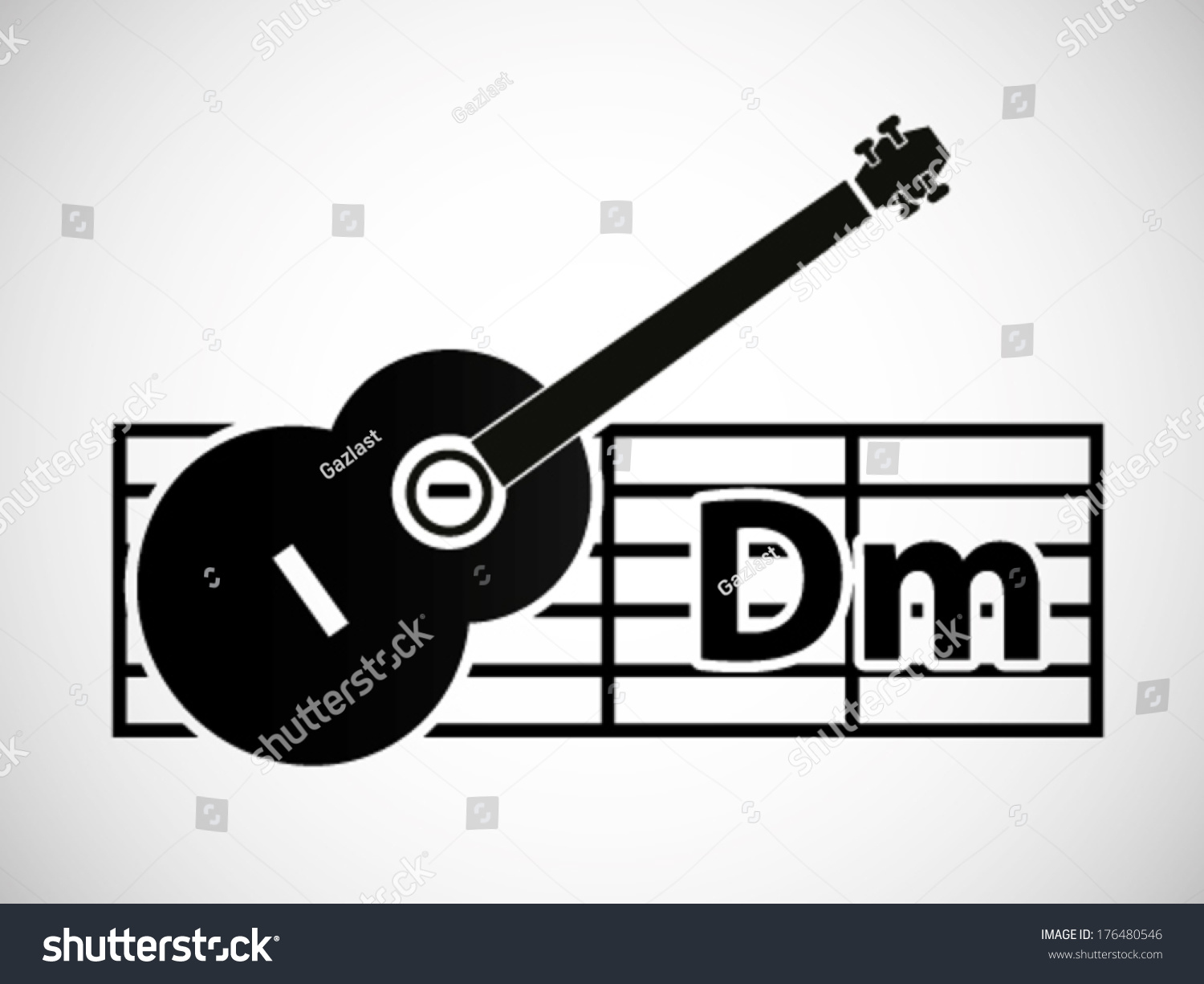 Guitar Chord Illustration D Minor Stock Vector Royalty Free