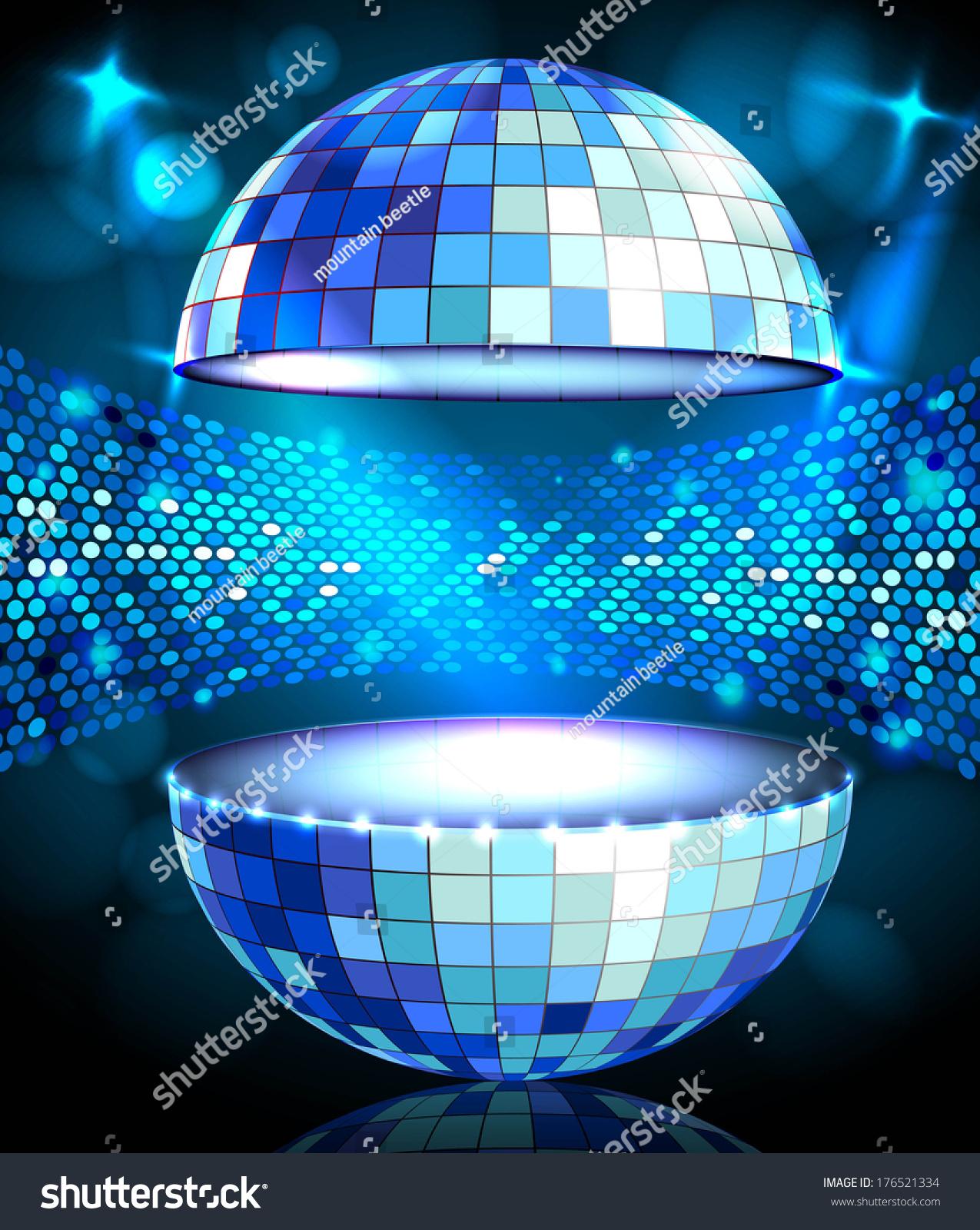 Disco Ball Disco Background Stock Vector 176521334 ...