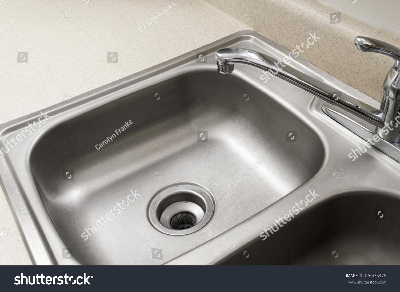Empty Stainless Steel Kitchen Sink Horizontal Stock Photo Edit Now
