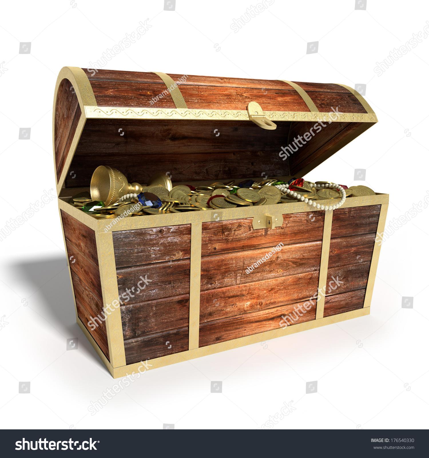 3d illustration treasure chest stock illustration 176540330