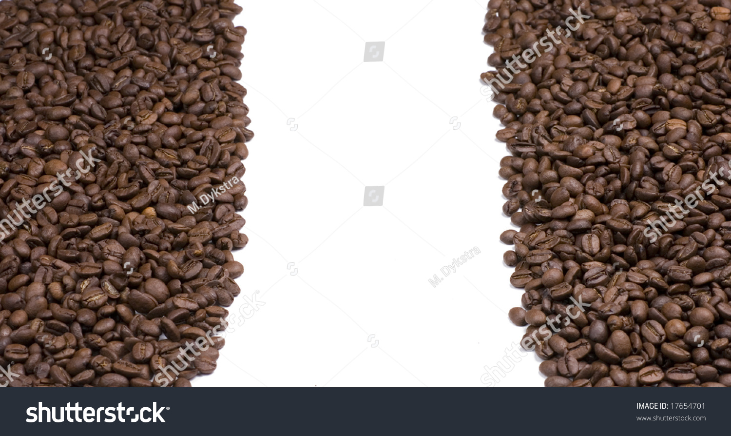 Coffee Beans on White Background #17654701