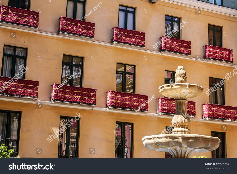 Old Style Balcony Malaga Traditional Spanish Stock Photo 176562050