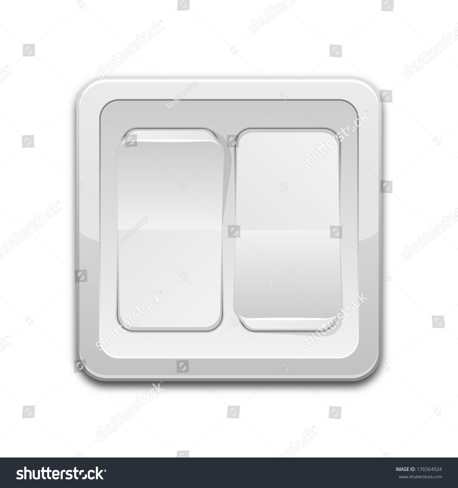 Vector Double Light Switch Icon