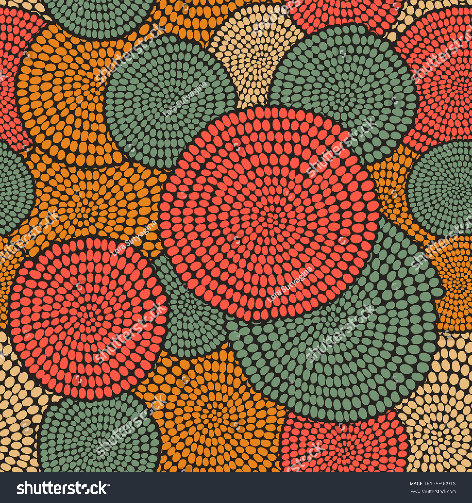 Traditional African Ornament With Swirls. Seamless Vector ... Traditional African Patterns