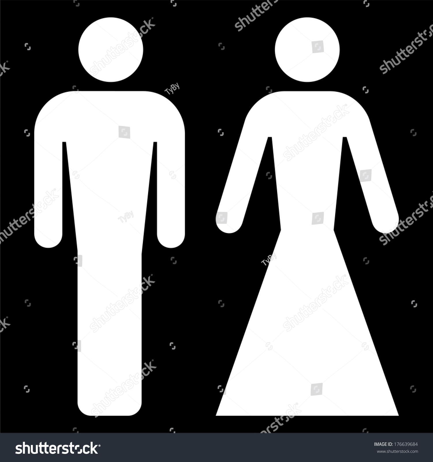 Bathroom Sign Vector Style elegant universal restroom sign vector stock vector 176639684