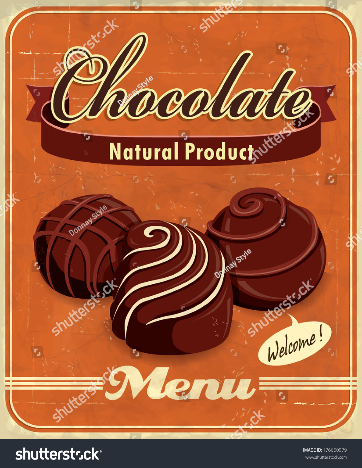 Vintage Chocolate Poster Design Stock Vector 176650979 - Shutterstock