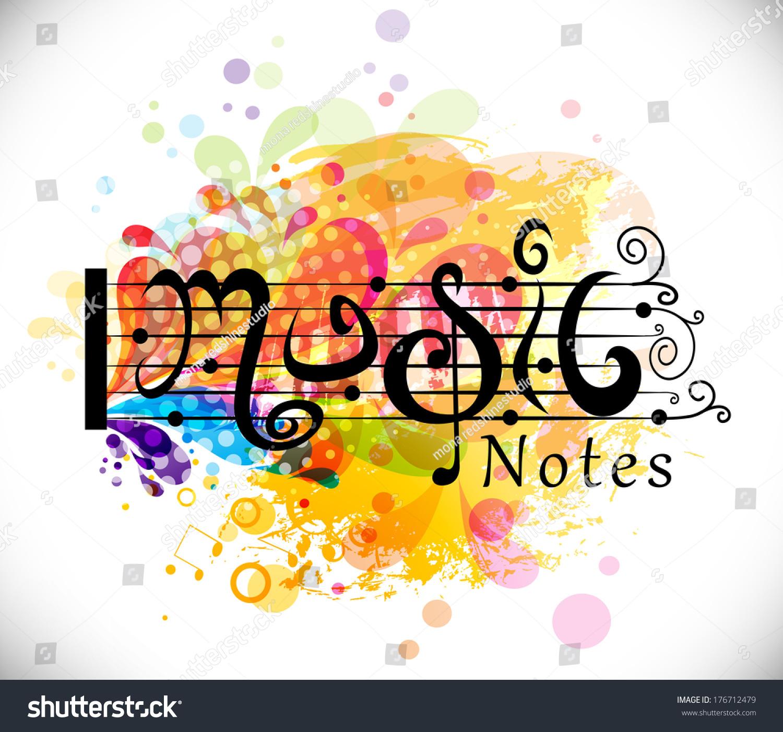 Music Theme Background Musical Notevector Illustration Stock Vector ...