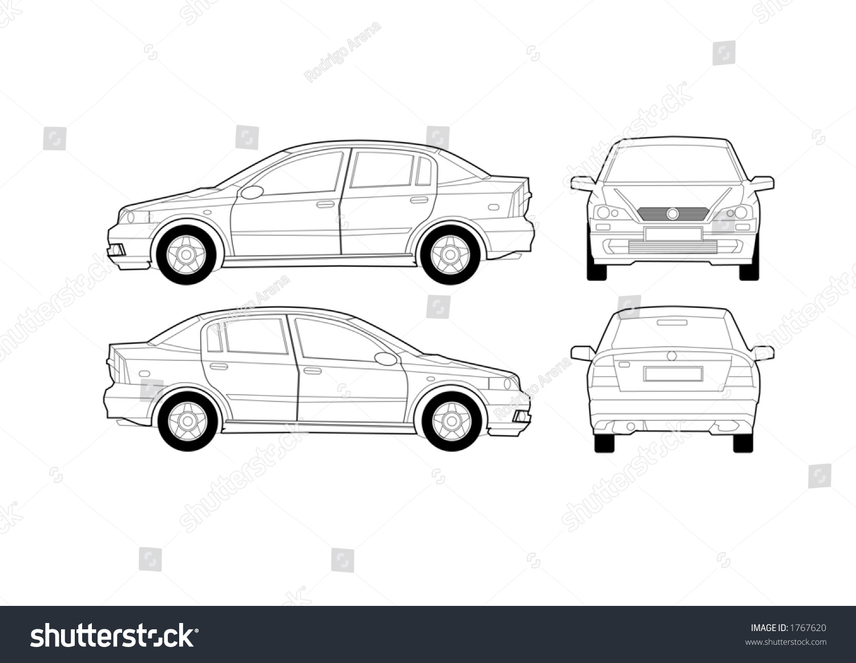 saloon car diagram stock vector 1767620 shutterstock : car diagram - findchart.co