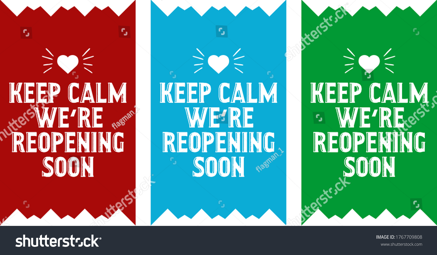 Keep Calm We Reopening Soon Text Stock Vector Royalty Free 1767709808