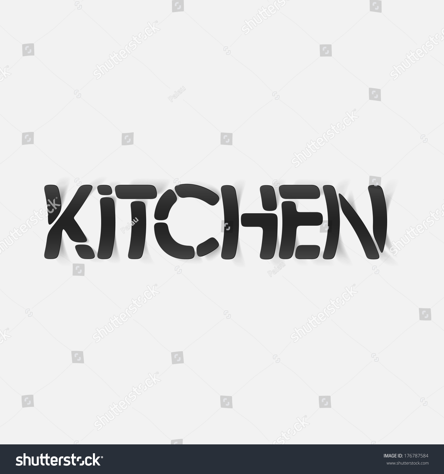 Realistic Design Element Kitchen Stock Illustration 176787584 Shutterstock