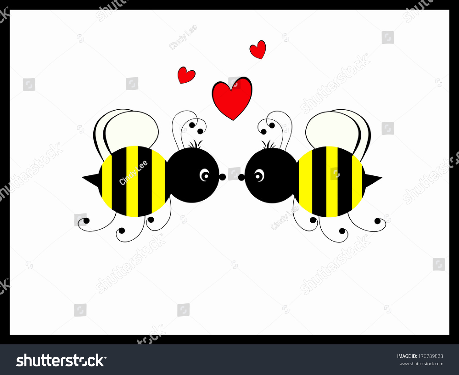 Bumble bees love stock illustration 176789828 shutterstock bumble bees love biocorpaavc