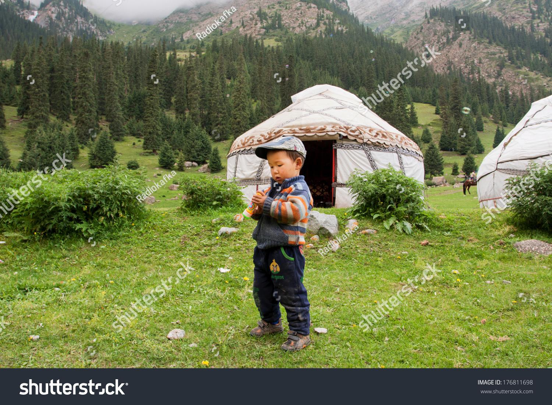 Barskoon Kyrgyzstan Aug 3 Small Boy Stock Photo Edit Now 176811698