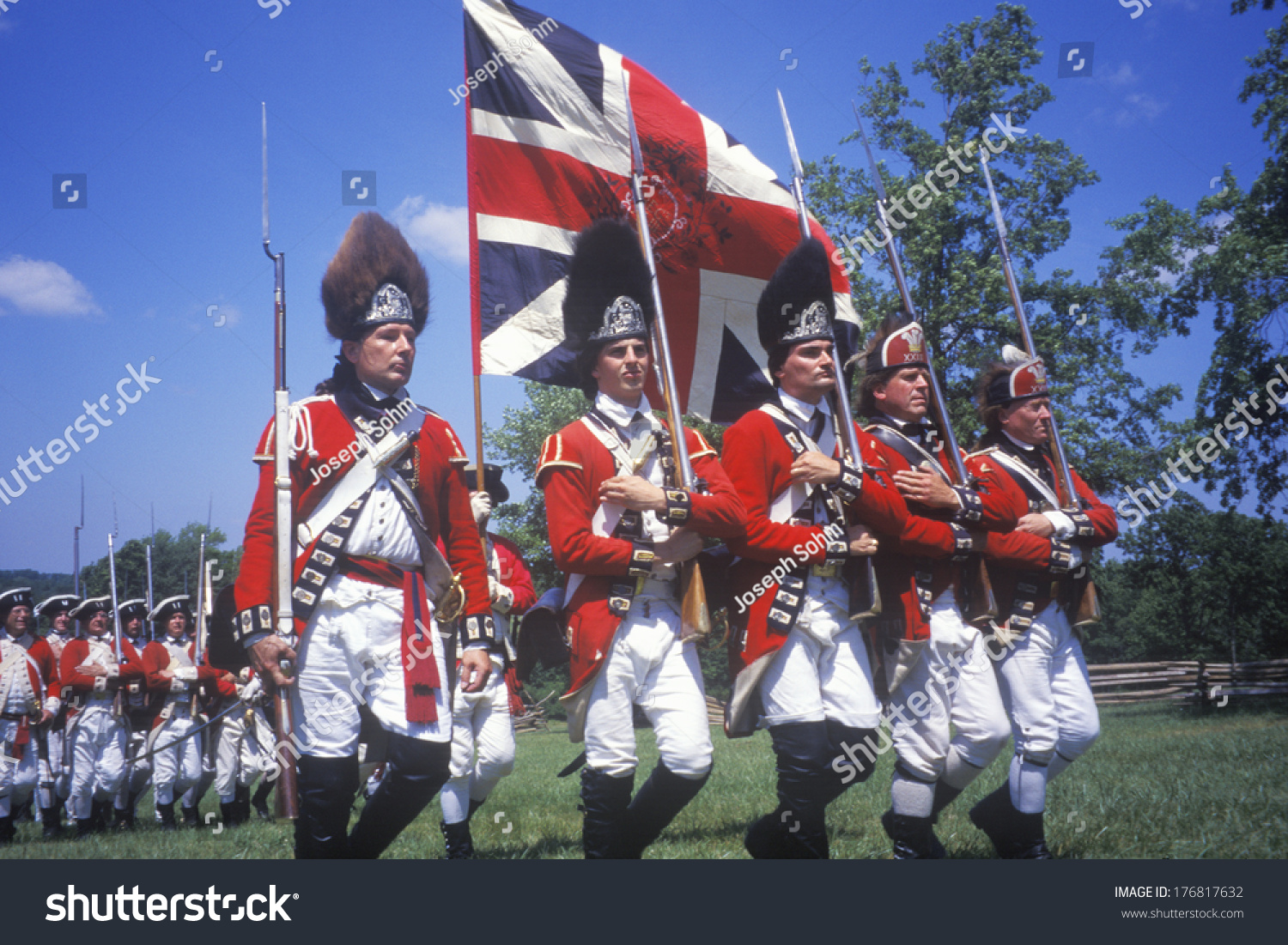 Revolutionary War Reenactment Freehold New Jersey Stock