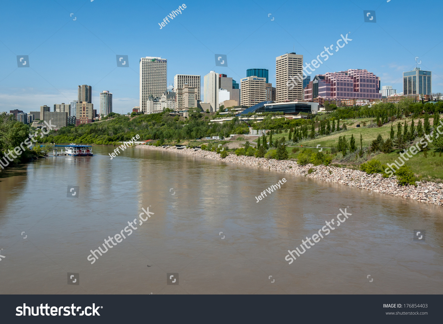 Edmonton (AB) Canada  city pictures gallery : EDMONTON, AB, CANADA MAY 29: The Saskatchewan River valley and ...