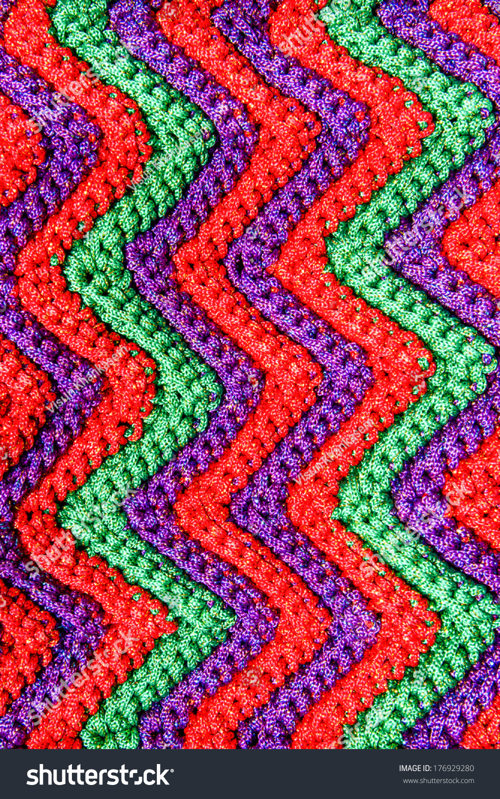 Colorful Crocheting Pattern Close Background Stock Photo (Royalty ...