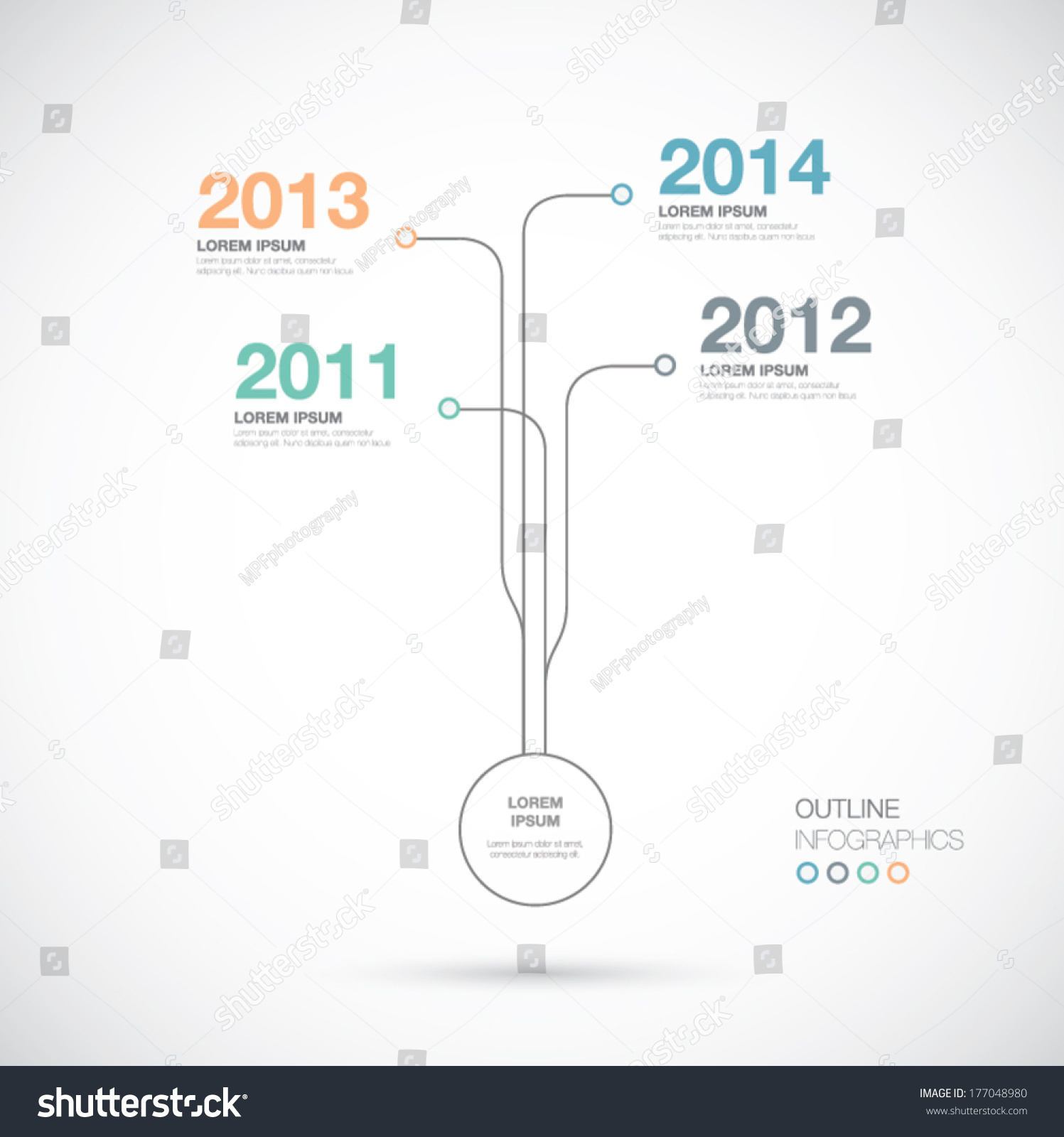 Outline Infographics Timeline Innovation Vector Stock