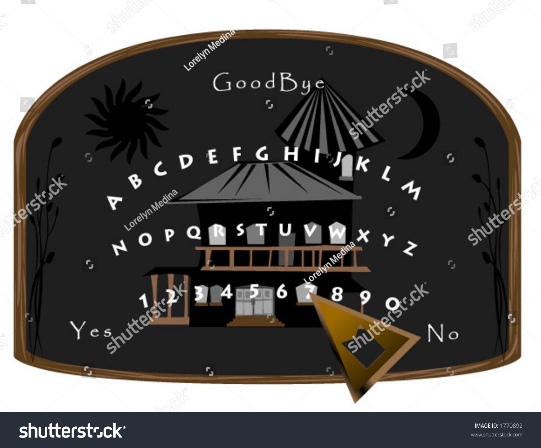 Ouija Board Vector Stock Royalty Free 1770892