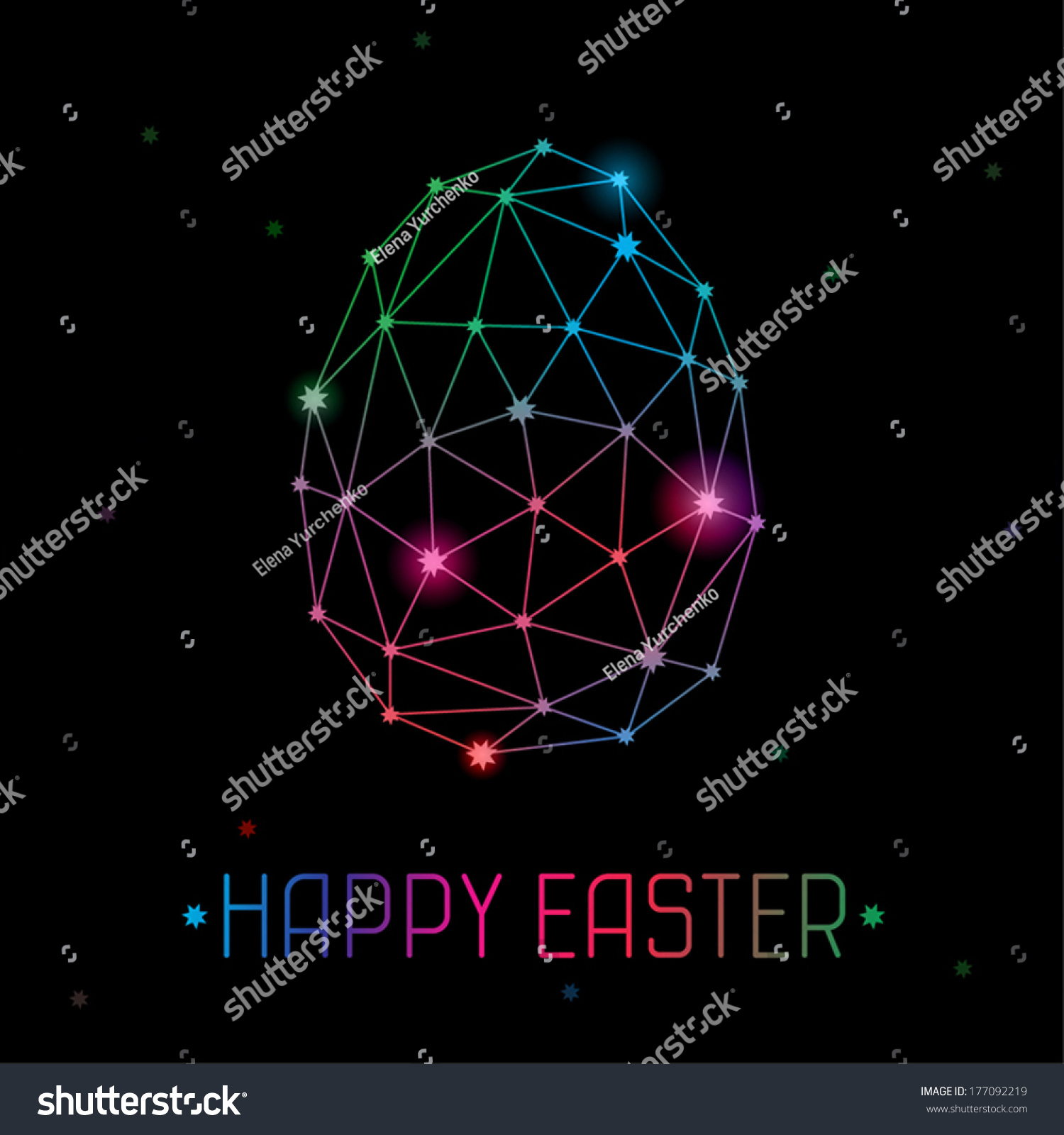 vector template stylized geometric easter egg stock vector royalty