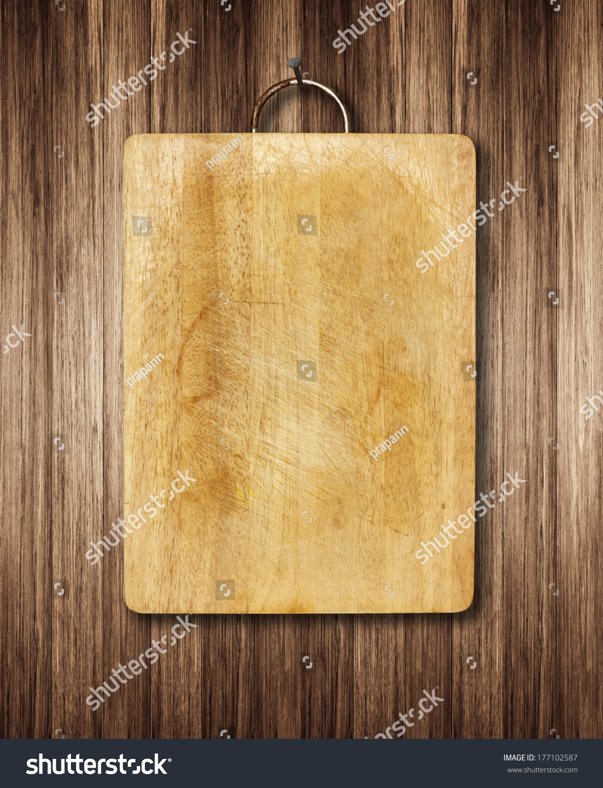 Old Cutting Boards Kitchen Hanging On Stock Photo Edit Now 177102587
