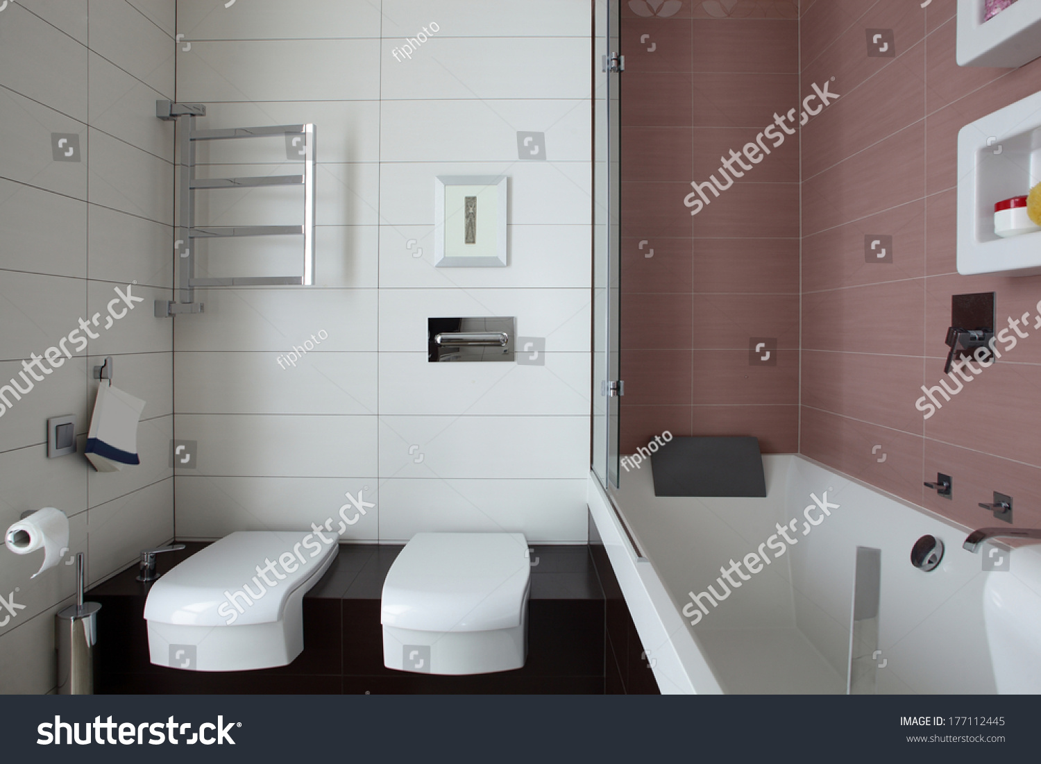 luxury and very clean toilet in european style | EZ Canvas