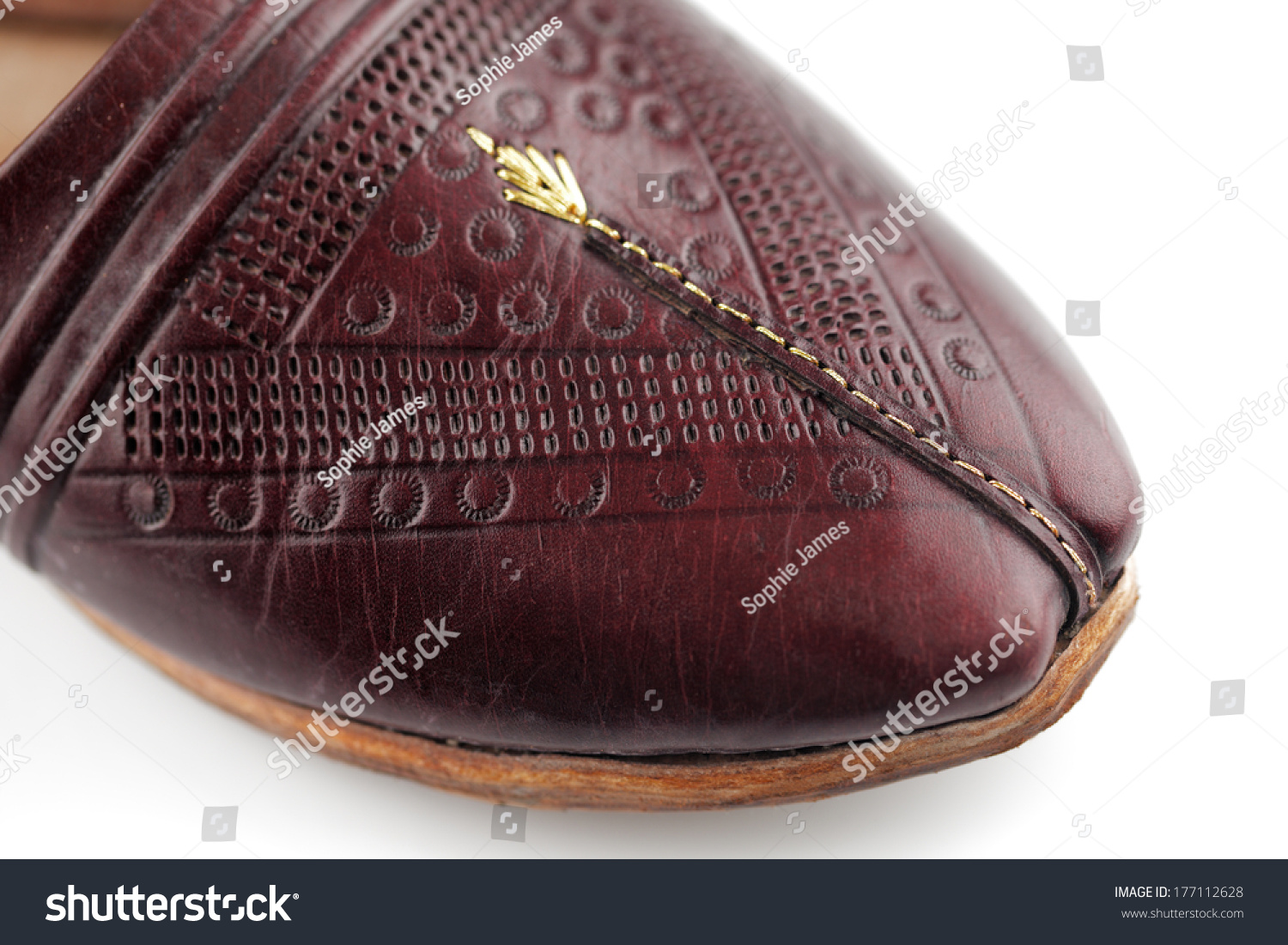 310d4f5a3c0 Traditional Arabic Slippers Shot Against White Stock Photo (Edit Now ...