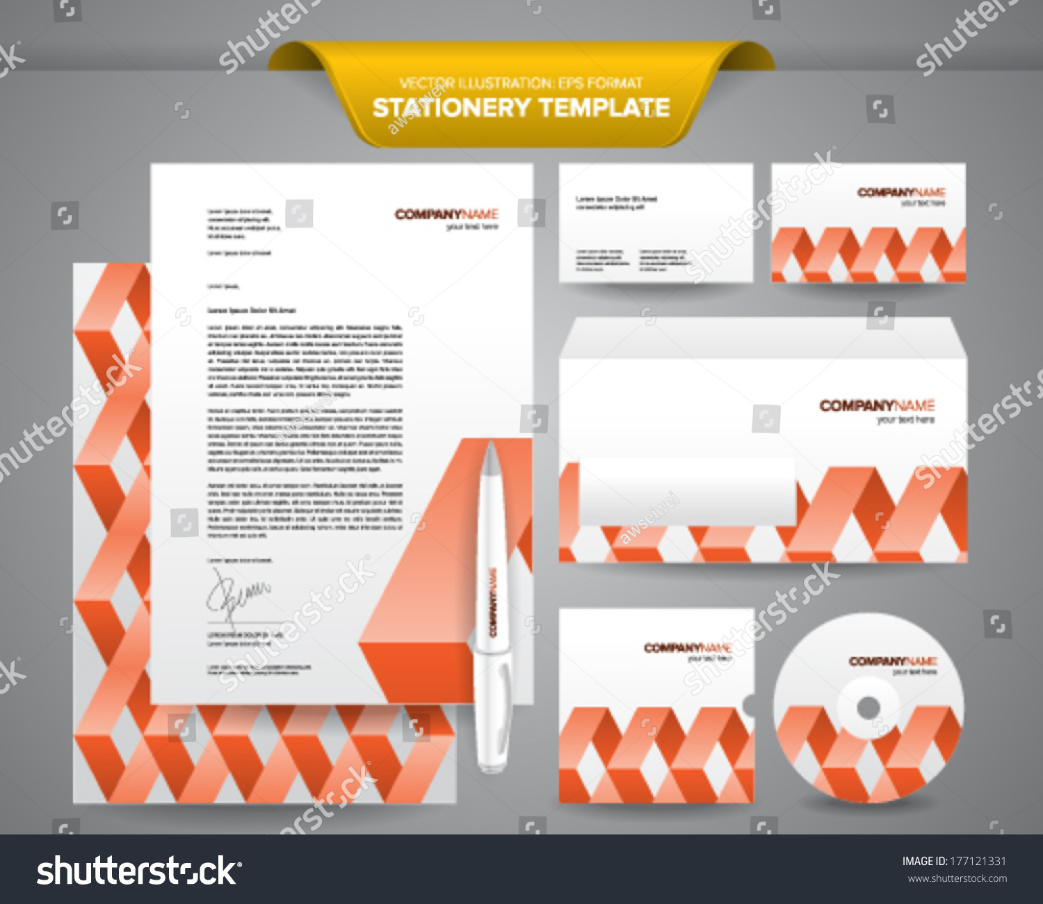 Complete set business stationery templates such stock vector complete set of business stationery templates such as letterhead envelope business card etc accmission Images