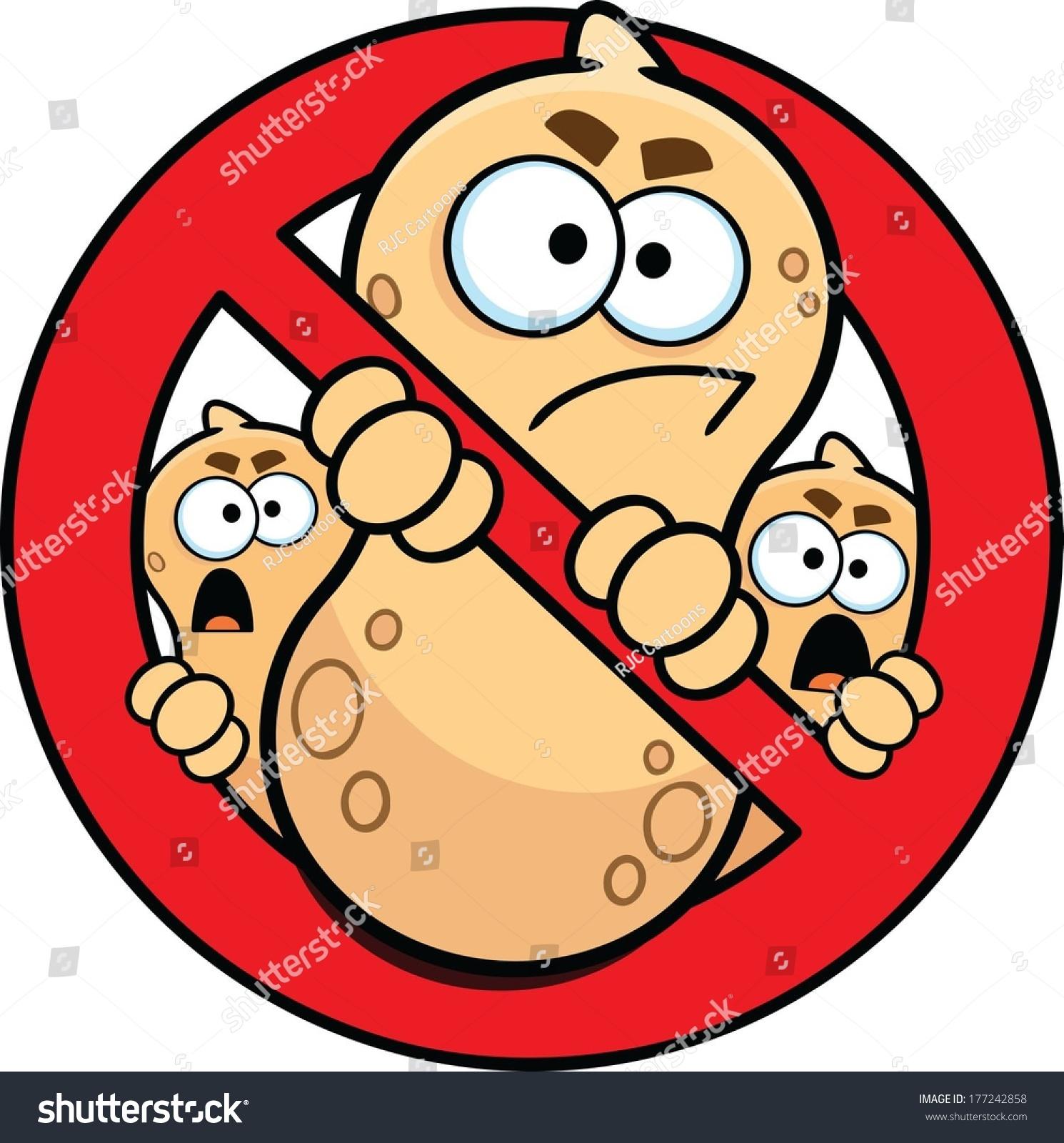 Peanuts Characters Clipart Stock Vector Allergy Alert Sign No Peanuts Done