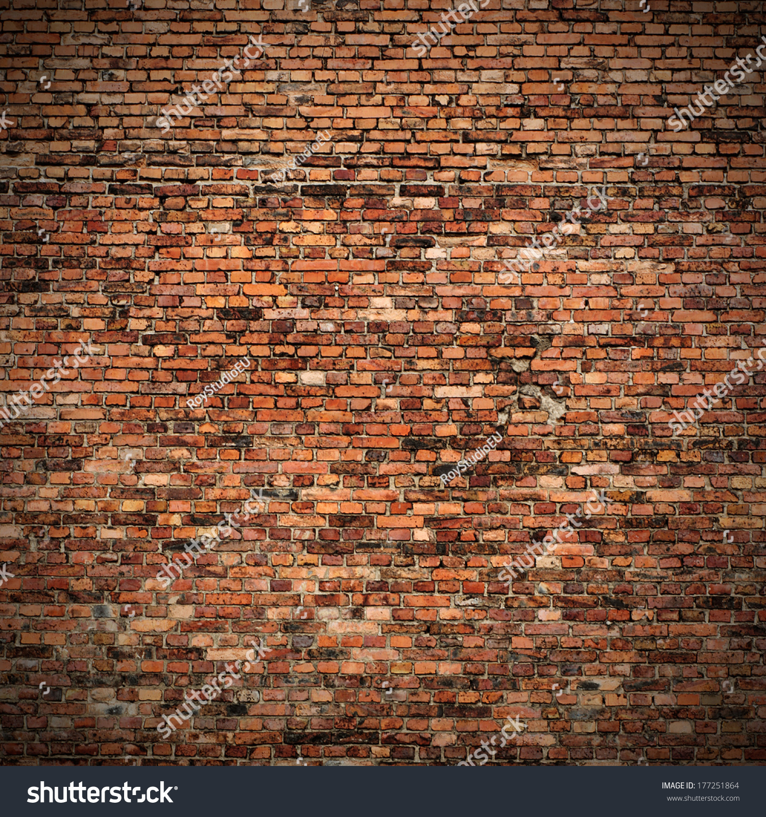 save to a lightbox stock photo red brick wall texture grunge background with vignetted corners to interior design