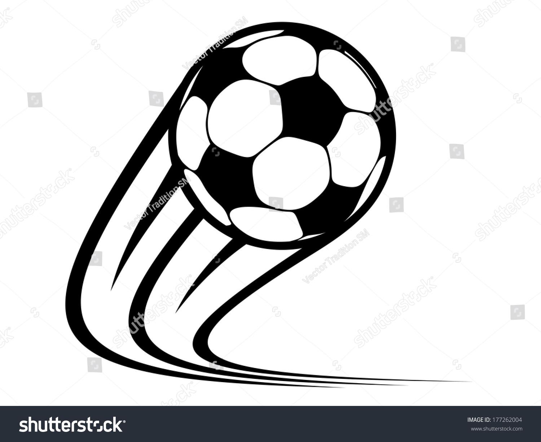 royalty free zooming soccer ball logo flying through 177262004