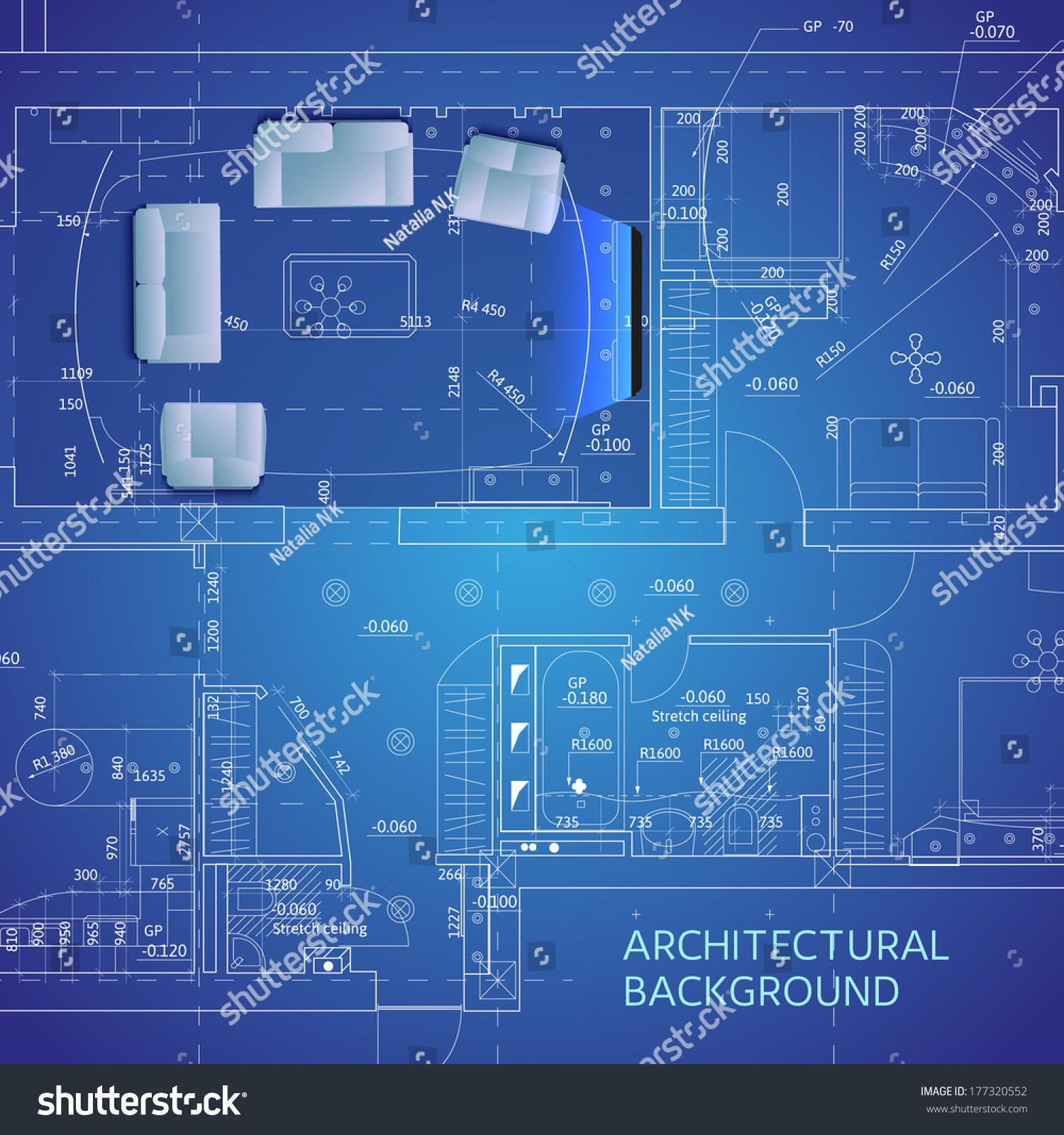 Blueprint furniture vector illustration vectores en stock 177320552 blueprint with furniture vector illustration malvernweather Choice Image