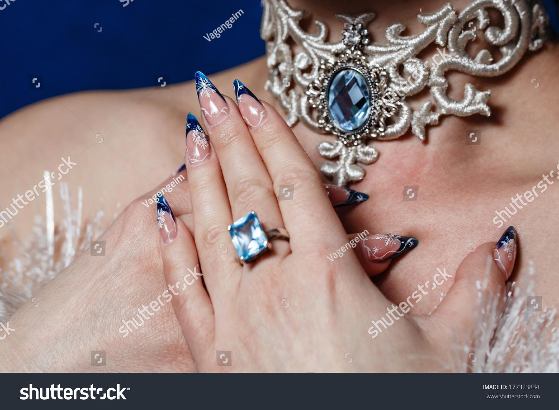Crack Nail Polish On Female Fingers Stock Photo (Royalty Free ...