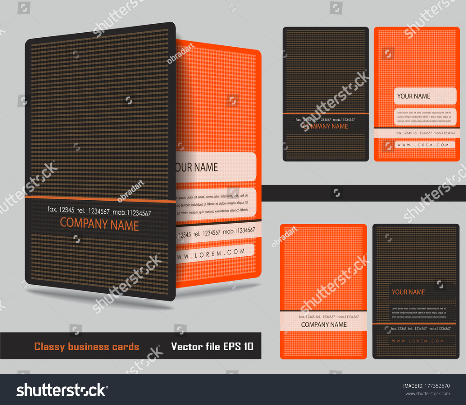 Classy Business Cards Stock Vector 177352670 - Shutterstock