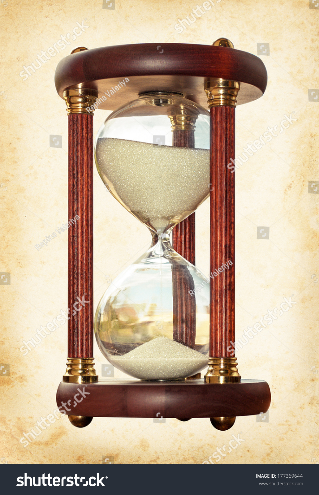 Old Hourglass Symbol Transience Time History Stock Photo Edit Now