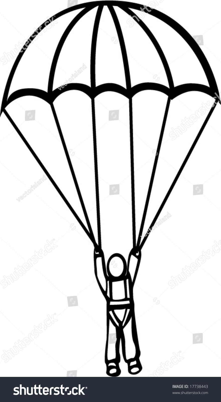 Рисунки карандашом парашютист