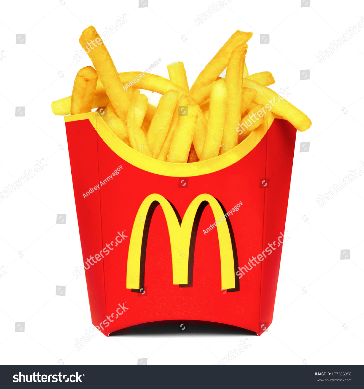 Moscow, Russia-July 7, 2013: Mcdonald'S French Fries ...
