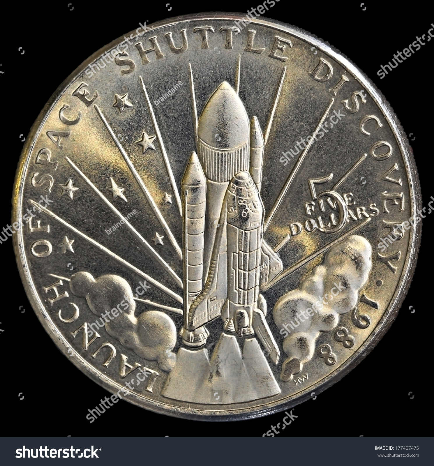 space shuttle discovery 5 dollar commemorative coin - photo #21