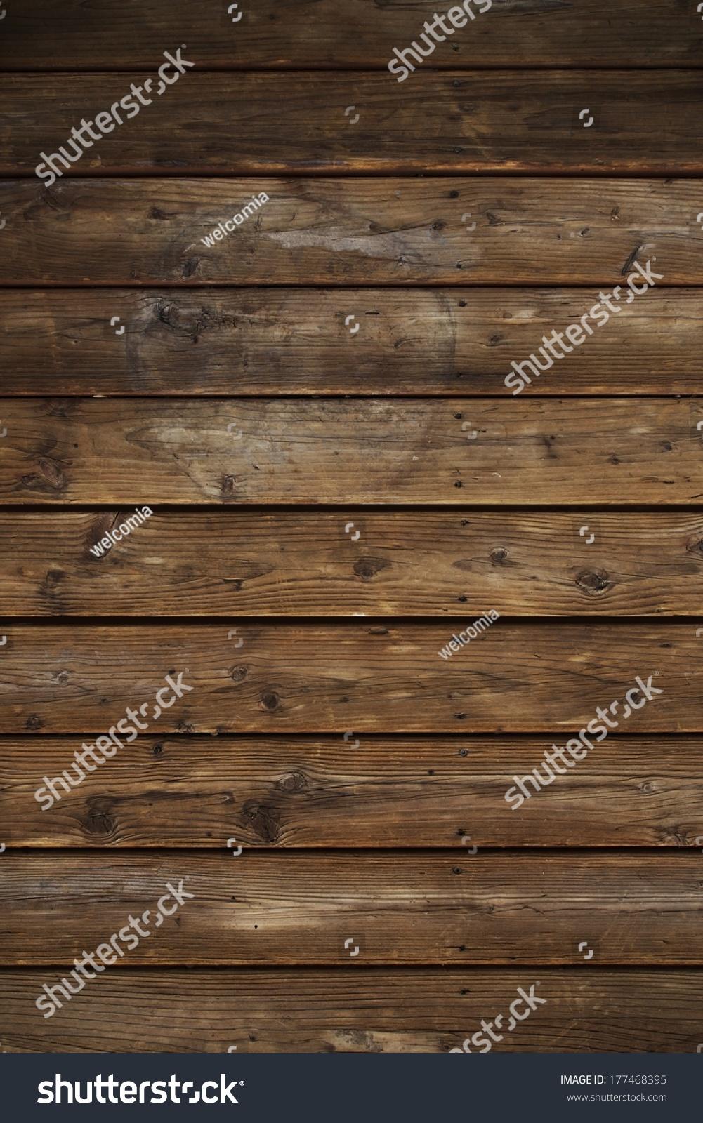 Vintage horizontal wood planks background stock photo
