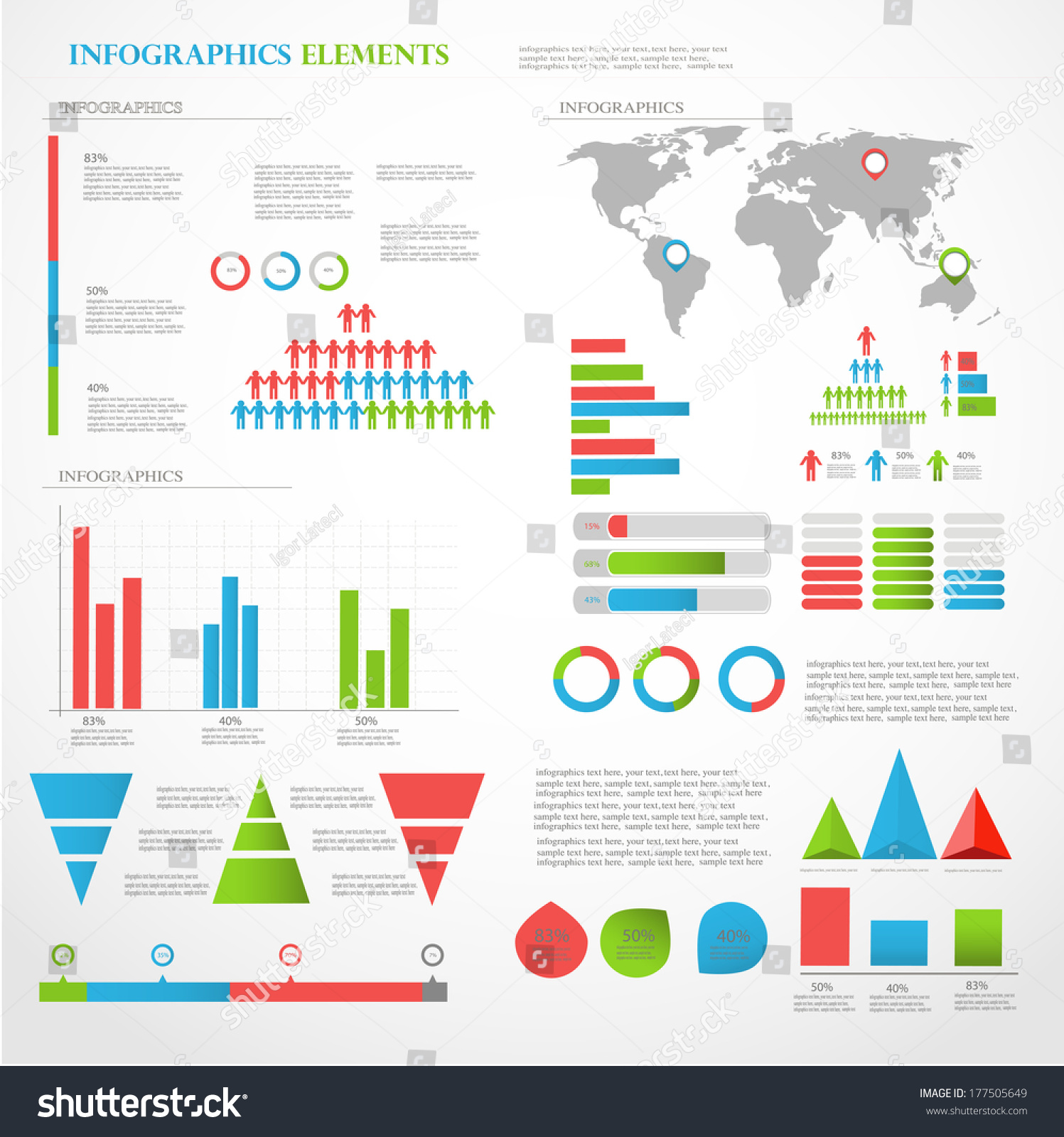 Set infographic elements world map information stock vector set of infographic elements world map and information graphics gumiabroncs Gallery